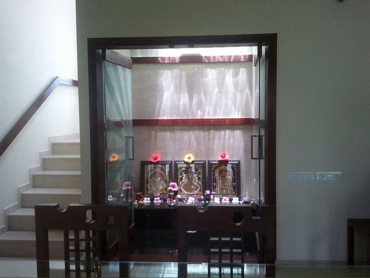 Modular Pooja Room Designs in Living Room