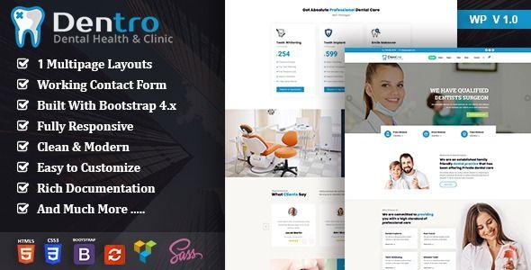 Dentro Dental Practice Wordpress Theme Stylelib In 2020 Dental Web Design Dental Practice