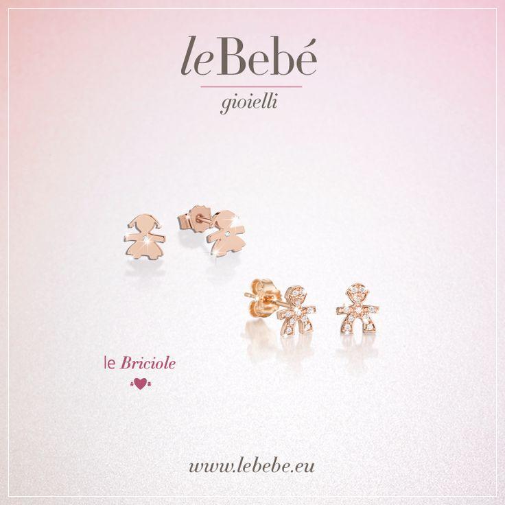 Orecchini rosa della linea le Briciole, con diamante oppure con pavé di diamanti. L'eleganza delle piccole cose. :) http://www.lebebe.eu/it/collezioni/le_Briciole #fieradiesseremamma #lebebé #gioielli #oro