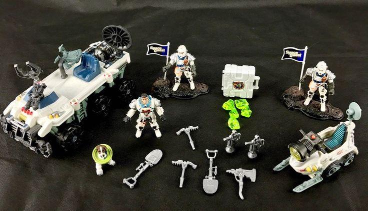 Space Quest Toys chap mei Large Collection 3 Figures Astronauts & Dog ect