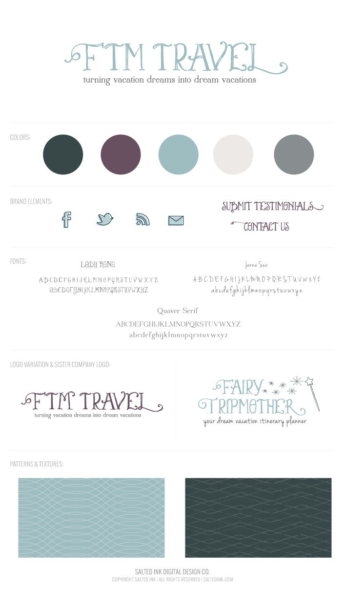 another color combo with aqua and plum..   FTM-Travel-Logo-Presentation-By-Salted-Ink