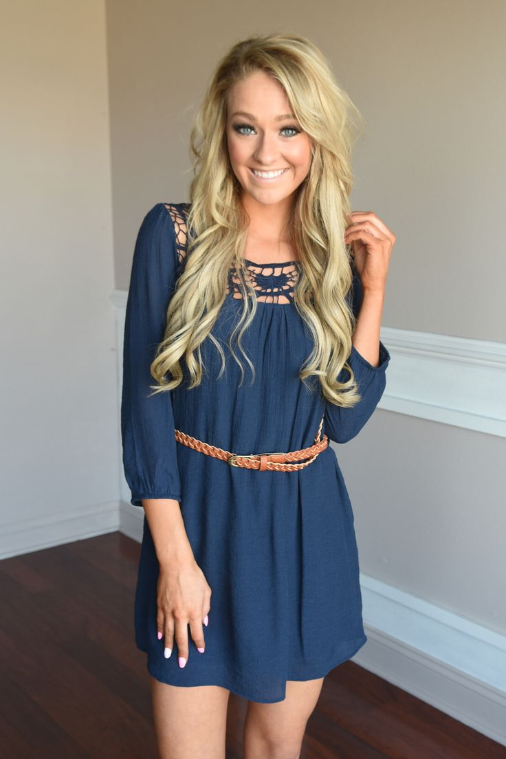Two Step Dress ~ Navy – The Pulse Boutique