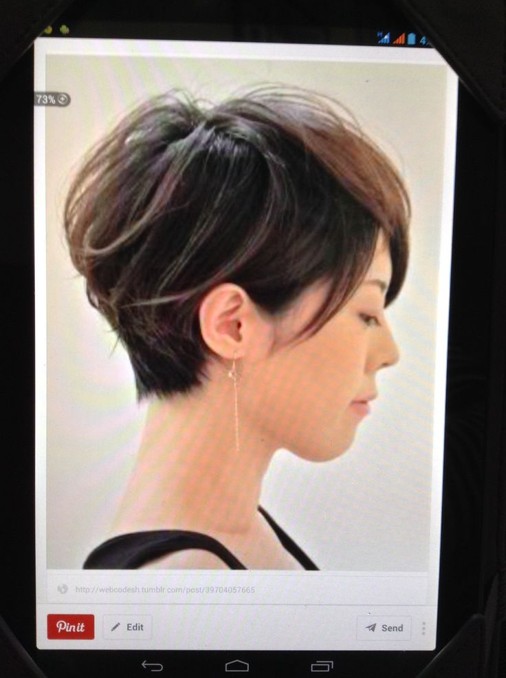 side view asian short haircut hairdo pinterest