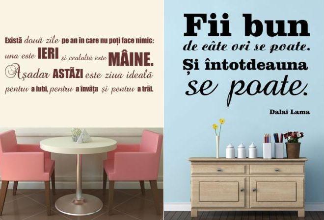 Stickere cu citate motivationale pe http://www.deco-perete.ro/catalog?q=citate