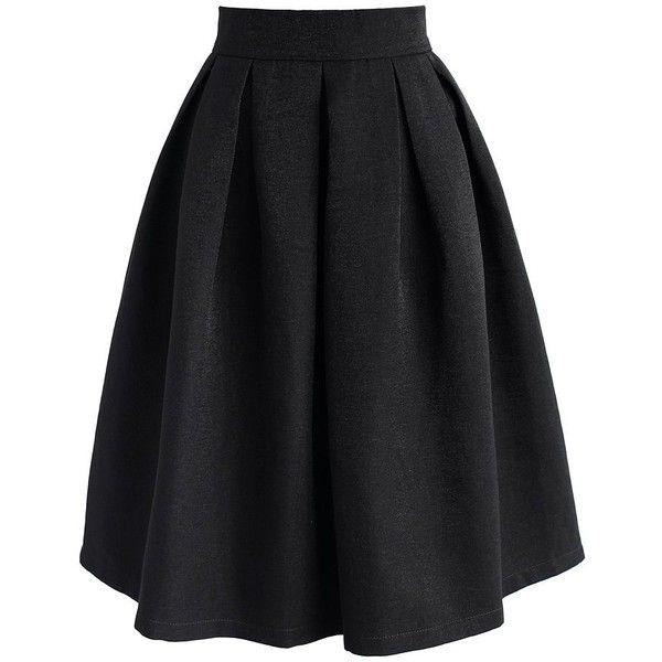 17 best ideas about Black Pleated Midi Skirt on Pinterest | Black ...