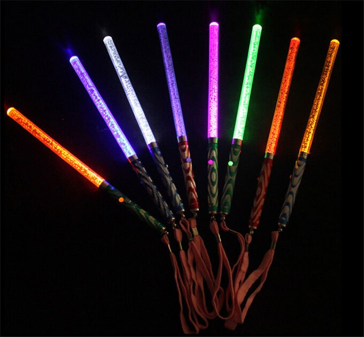 26CM Acrylic LED Glowing Sticks Concert Bar Flashing wands Light up toys