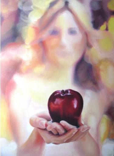 "Saatchi Art Artist Pelin Sogut; Painting, ""Forbidden Fruit"" #art"
