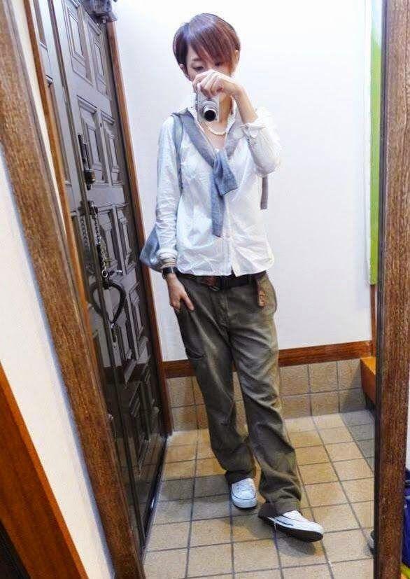 モコーデ: 9月30日 白シャツのボーイズスタイルと過去コーデまとめ