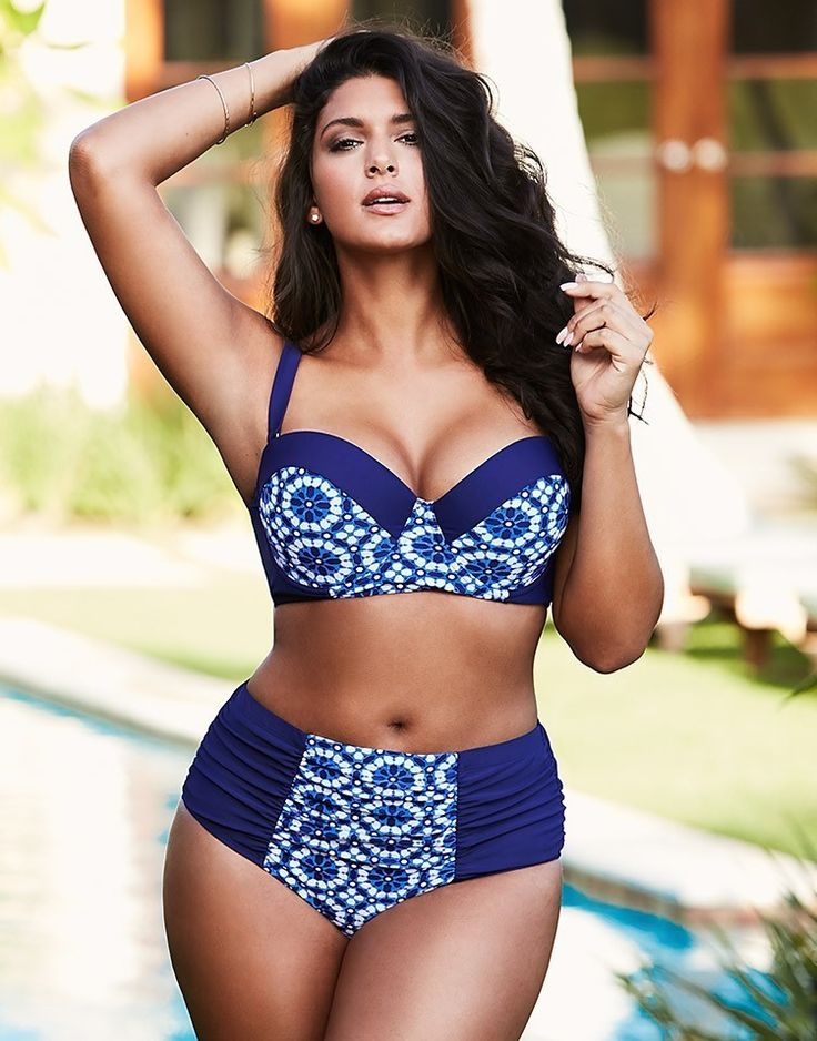 Adore Me Makes a Splash with Plus Size Swimwear http://thecurvyfashionista.com/2016/03/adore-me-plus-size-swimwear/ More Plus size women fasion moda dress clothe Swimwear Tops Bottoms