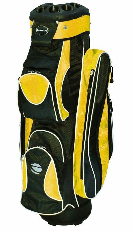 Featuring a very unique 14 way top with a 10 pocket design these mens OC 14.10 golf cart bags by Orlimar also offer a graphite safe top to protect you golf clubs