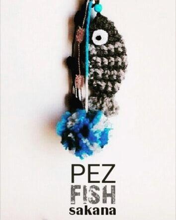 Llavero pez  crochet