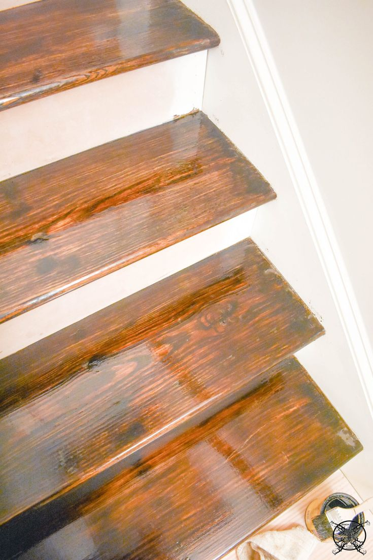 how to paint over stained wood skirting boards