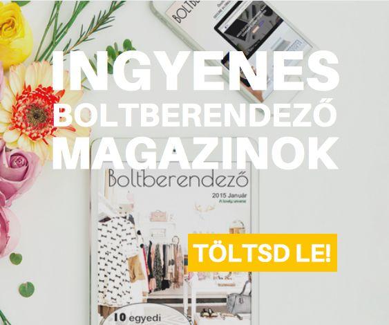 Kirakatrendezési és üzletdekorációs tippek a Boltberendező online magazinjaiban. Te olvastad már őket? Töltsd le ingyen!