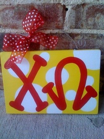 Handpainted CHI OMEGA Signs
