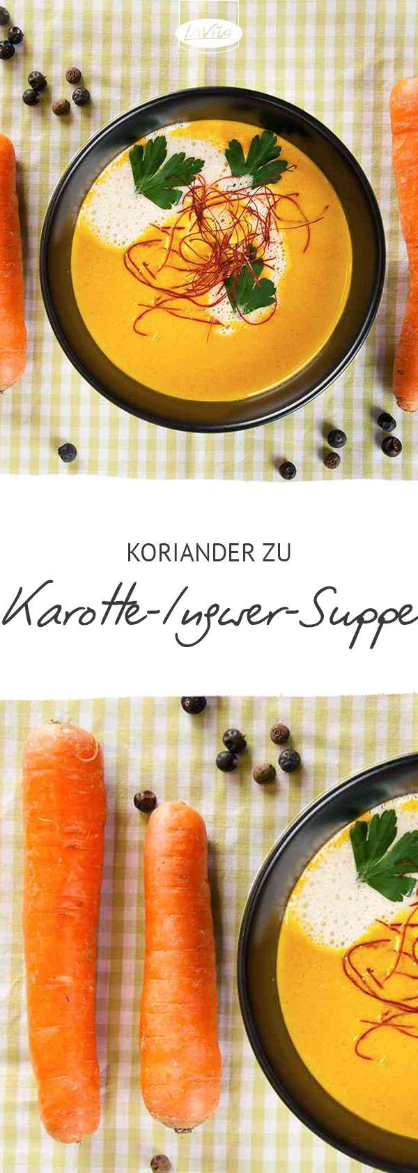 Karotte-Ingwer-Suppe mit Koriander