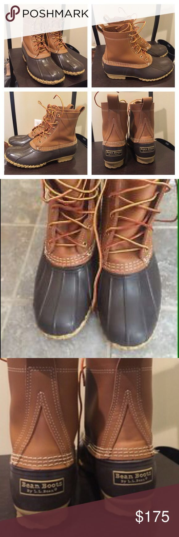 """LIKE NEW L.L. Bean 8"""" Bean Boots Women's Size 8 LIKE NEW Authentic L.L. Bean 8"""" Duck Boots Women's Size 8 Sold from a true mainer boughten at L.L. Bean Factory next door to me Size 8 fits women's 9 thanks for looking perfect boot for winter ! Genuine leather L.L. Bean Shoes Winter & Rain Boots"""