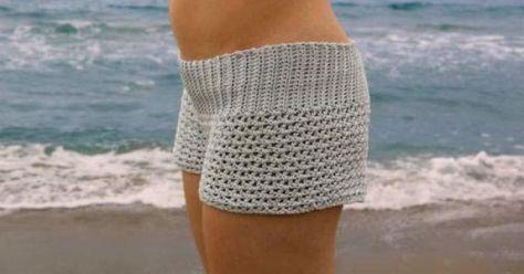 shorts tejidos al crochet. Materiales necesarios para hacer los shorts tejidos: Lana o Hilo Ganchillo un poquito mas fino que el grosor del hilo Tijeras P..