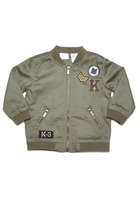 10 Best Kardashian Kids Clothing of 2016-Kids Clothes From the Kardashian Collection-Kardashian Kids Boys Bomber Jacket-$43, nordstrom.com. Cool morning and evenings calls for an equally as cool coat. This bomber jacket, in a go-with-everything military green hue, provides warmth and style in one package. This jacket may be made for the boys, but there's no reason why your little girl couldn't take a page from North West's fashion-forward style book, and rock it too! Visit redbookmag.com…
