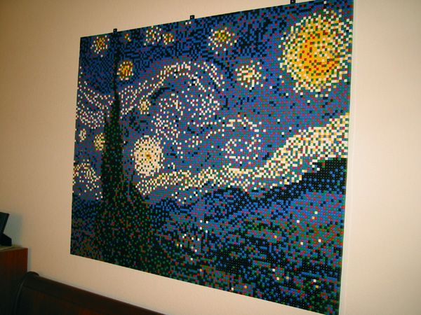 """nice """"Lego painting"""". this would make excellent decor. get to work jackson!"""