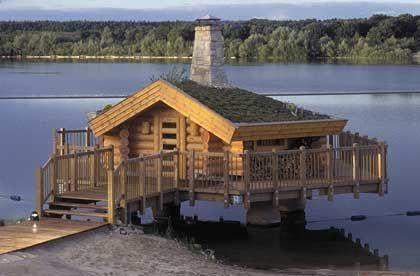 Finnish fire-sauna