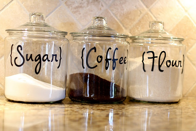 As I was baking the other day, I put my flour and sugar into tupper ware containers because it was all I had. Will most likely do this for myself!! LOVE