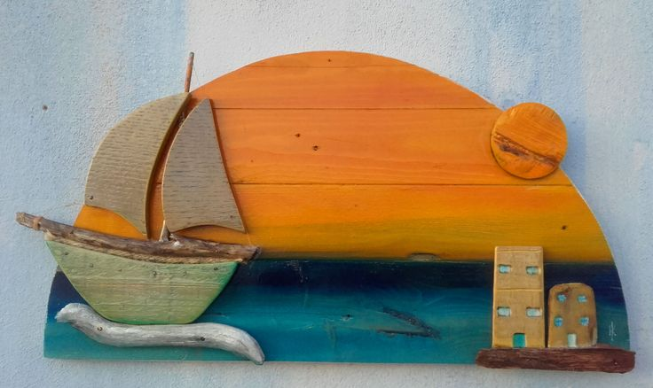 handmadekriti...boat  made from pallet wood,greek islands,handmade