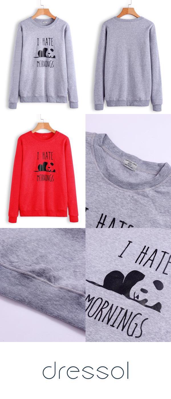 Plus Size Hoodies & Sweatshirts Autumn Print Overhead Daily Casual Printed Winter Sweatshirt 3