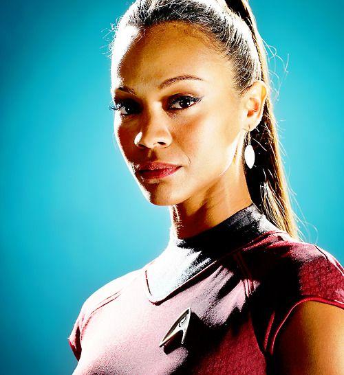 Star Trek Uhura played by Zoë Saldana