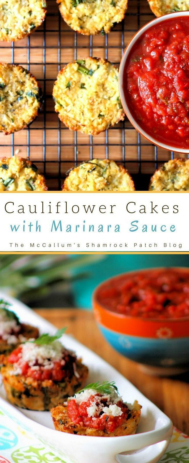 What's not to love about these Crispy Cauliflower Cakes with Marinara Sauce? These amazingly easy to make, husband approved Cauliflower Cakes will be one of those sinfully delicious, flavorful, yet almost guilt-free snacks you'll love to nosh on with your favorite Marinara Sauce.