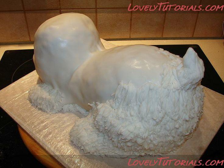 carved terrier dog cake tutorial