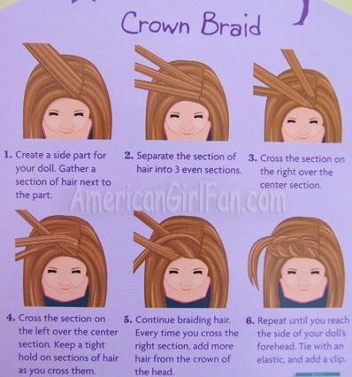 Front bangs braid- this is really good for those who want to learn how to do a braid!