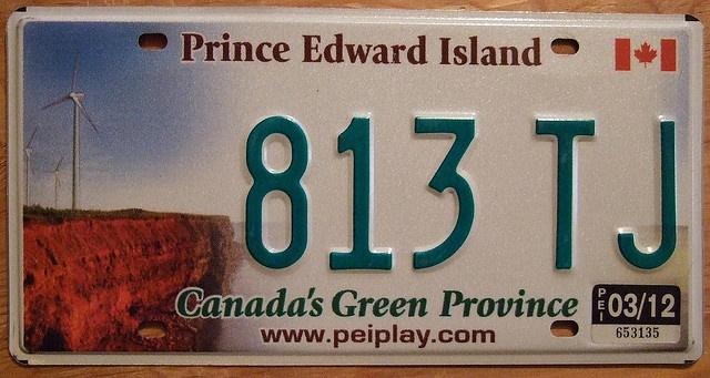 PEI license plate