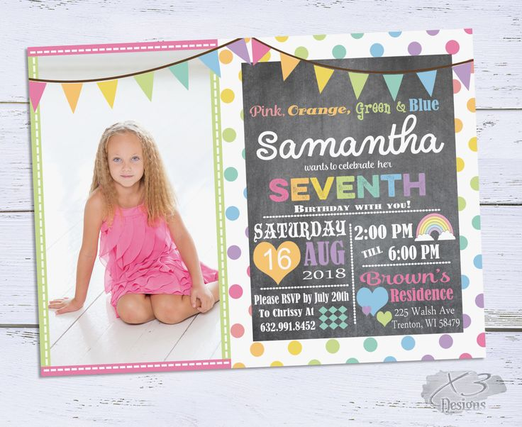 33 best Birthday Invitations and Party Printables Our Work – 6th Birthday Invitation