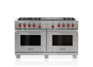 "Wolf 60"" Dual Fuel Range - 6 Burners and Infrared Dual Griddle DF606DG"