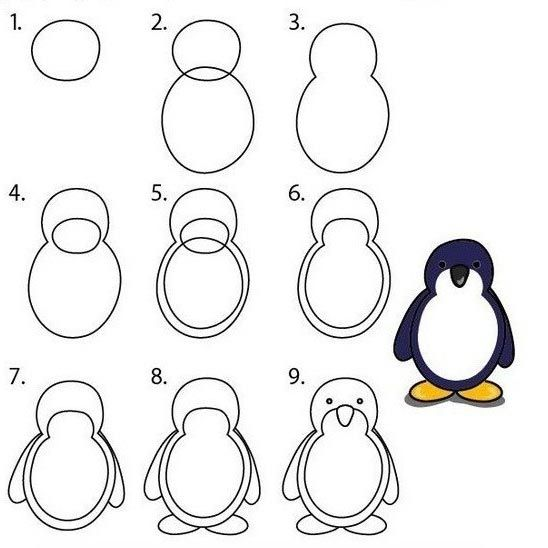 Dibujos Paso A Pinterest Penguins He Is And Drawings