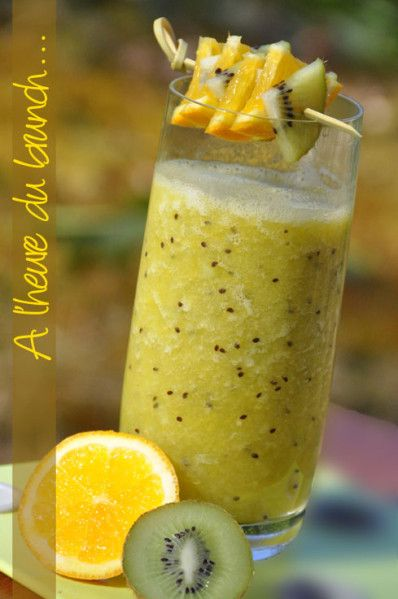 Jus de fruit frais   Banane  kiwi  orange   le blog de recettes faciles   La cuisine de Nathalie