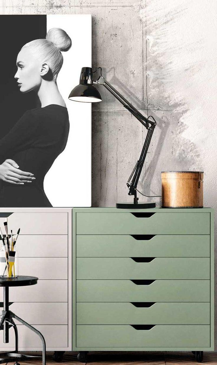 Επιτραπέζιο φωτιστικό - πορτατίφ - λαμπατέρ γραφείου, σε μοντέρνο στυλ, με μεταλλική βάση και ρυθμιζόμενο σώμα σε μαύρο χρώμα. Σειρά Flexo της Viokef! - Desk - reading lamp, in modern style, with metal base and adjustable body in black! #reading #desk #desklamp #tablelamp #tablelight #readinglight #wallart #homeinterior