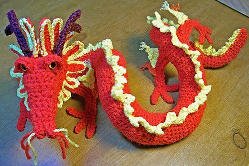 Ravelry: Oriental Dragon pattern by Gail Hovanec: Oriental Dragon, Dragon Patterns, Amigurumi Corner, Amigurumi Simpatici, Patterns Ravelry, Crochet Patterns, Free Patterns, Crochet Dragon, Amigurami Crochet