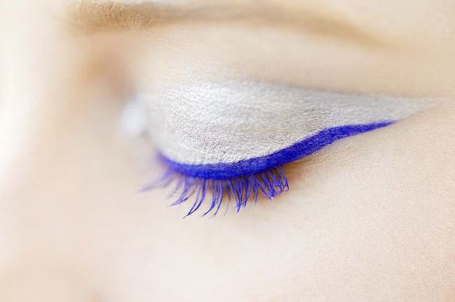 Electric blue cat eye, Christian Dior Couture Fall 2012.
