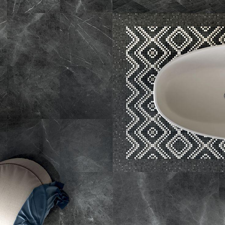 Il mosaico Dekor Cold LUX+ della collezione Sensi, firmata #abkemozioni, si può usare per decorare #pavimenti e #rivestimenti e comporre soluzioni d'effetto in tutti gli ambienti domestici. #ceramic #tiles #floor #wall #marbleeffect #gresporcellanato #design #bathroom #chevron #porcelainstoneware #ceramicsofitaly #floortiles #designtiles #italiantiles