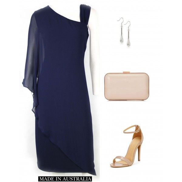 Wikolia Navy Elegant Evening Dress