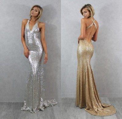sequin prom dress, glittery prom dress, sparkle prom dress, backless mermaid…