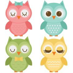 Assorted Owl Set SVG files for scrapbooking owl svg file owl svg cut file owl…