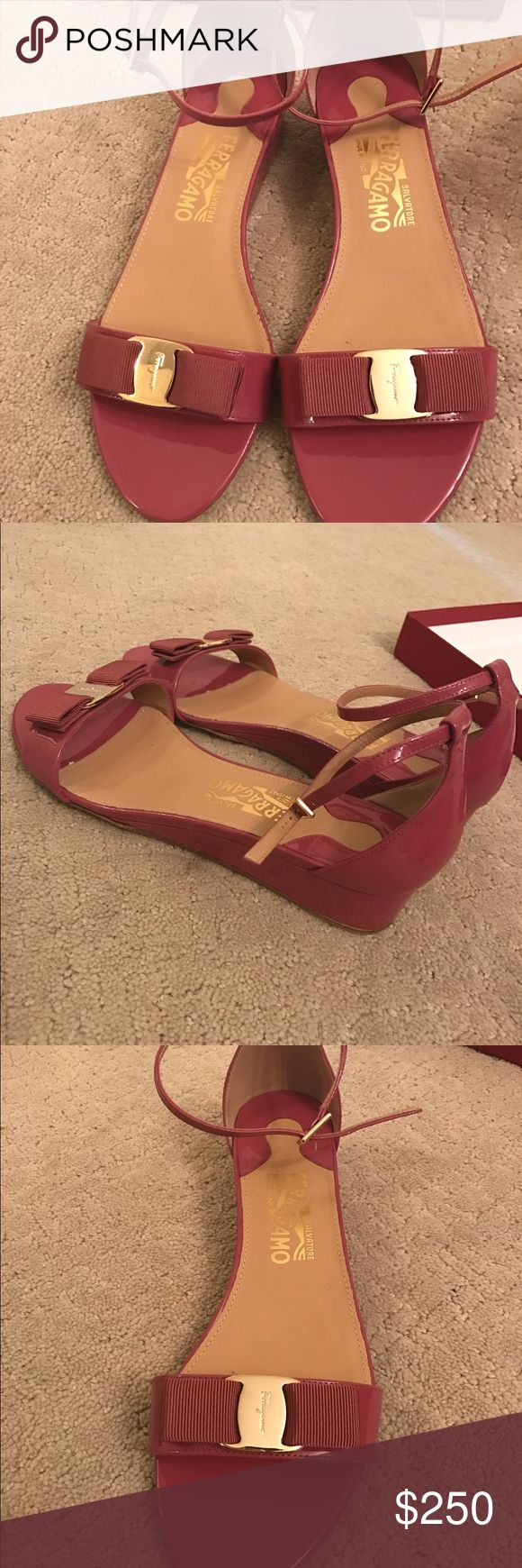 Salvatore Ferragamo brand new sandals for sale Beautiful never worn sandals in size 9. They are brand new!!! Salvatore Ferragamo Shoes Sandals