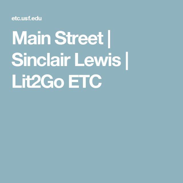 Main Street   Sinclair Lewis   Lit2Go ETC
