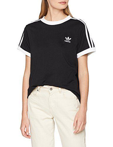 best service 0ff05 a64de adidas Damen T-Shirt 3-Stripes Black 36 CY4751. Rumpf locker geschnitten  für optimale Bewegungsfreiheit. Gerippter Rundhalsausschnitt. Kontr…
