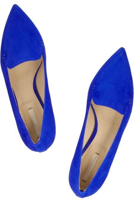 Electric blue flats for an amazing pop of color