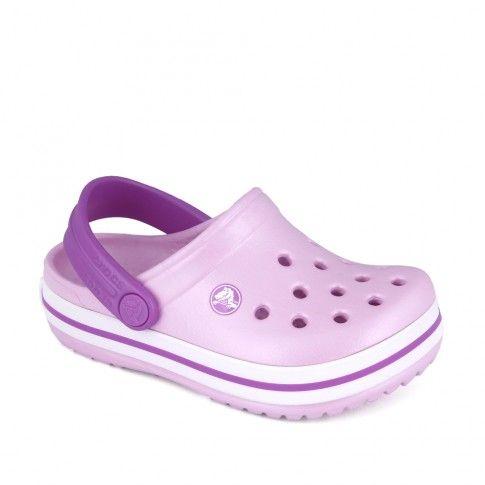 Sandale plaja fete Crocband K. Ballerina Pink - Crocs
