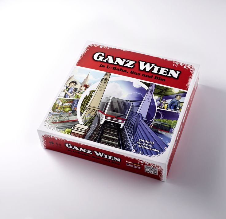 """""""Ganz Wien in U-Bahn, Bus und Bim"""" Board Game (2014) by WIENER LINIEN 