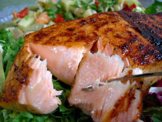 Make and share this Salmon With Sweet and Spicy Rub recipe from Food.com.